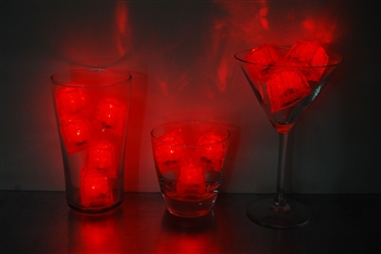 Ruby Red Jewel LiteCubes 3 Mode Light Up Ice Cubes