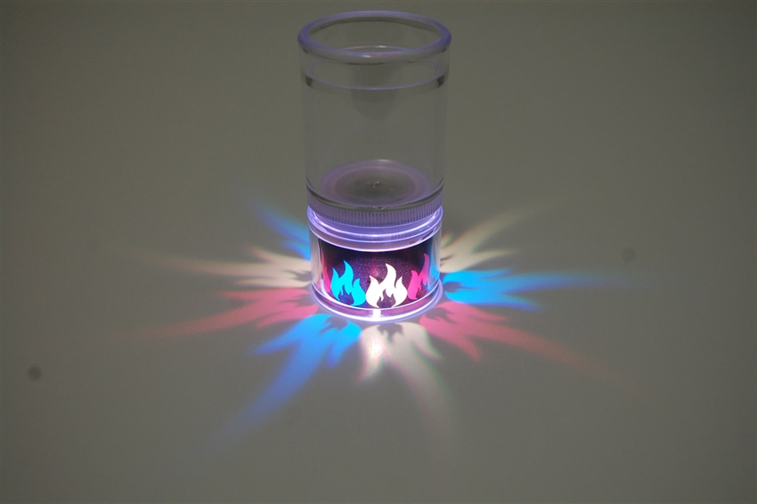 LiteRays Light Up Projection Shot Glasses- Flames