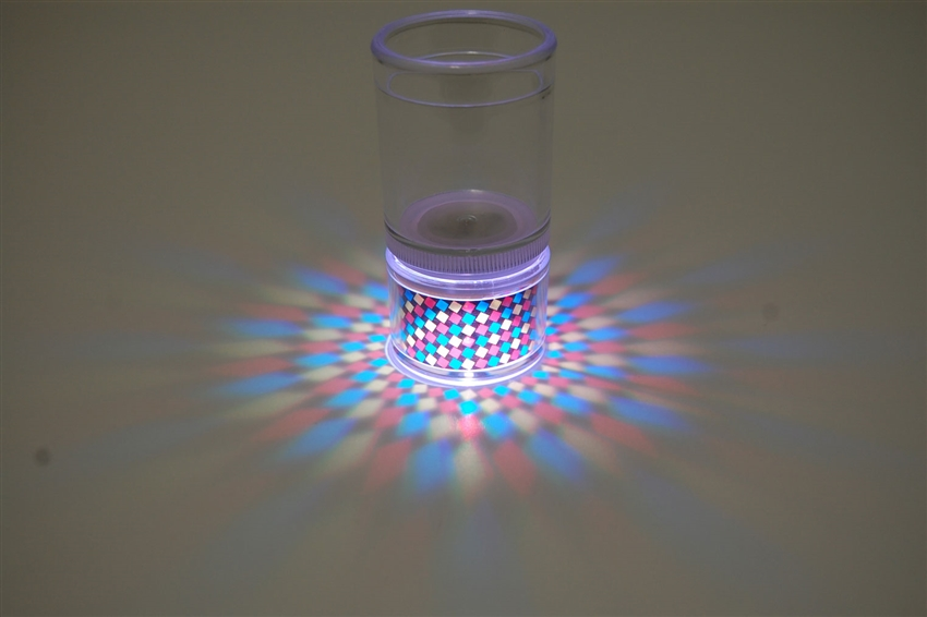 LiteRays Light Up Projection Shot Glasses- Spiral