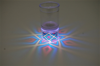 LiteRays LED Light Up Projection Shot Glasses- 5 Star