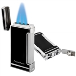 Prometheus Ultimo X Lighter, Triple Jet Flames with Built-In Cigar Punch Cutter