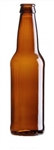 12oz. Glass Amber Long Neck Bottles, 24 pack