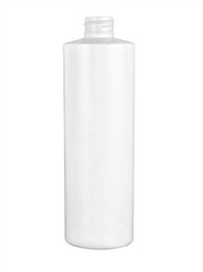 12oz White Cylinder HPE Bottles, 327 Case