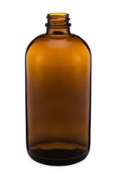 16oz. Glass Amber Boston Round Bottles 48 pack