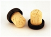 19.5mm Black Bar Corks 1,000 case