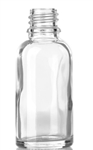 1oz. Glass Clear Euro Round Bottles 330 case