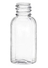 1oz Clear Boston Round Bottles, 1,326 case