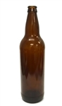 22oz. Glass Amber Long Neck Beer Bottles Bulk Pack