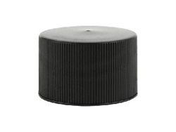 24-410 Black Standard Fine Rib Caps 1,000 Pack