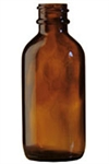 2oz. Glass Amber Boston Round Bottles 240 case