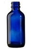 2oz. Glass Cobalt Blue Boston Round Bottles 240 case