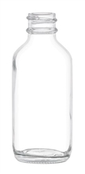 2oz Glass Clear Boston Round Bottles 240 case