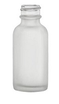 2oz. Glass Frosted Boston Round Bottles, 240 Case