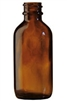 4oz. Glass Amber Boston Round Bottles, 22-400
