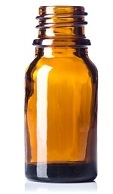 5ml Glass Amber Boston Round Bottle 765case