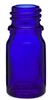 5ml Glass Cobalt Euro Bottles, 765 Case