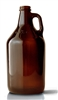 64oz. Glass Amber Growler Bottles 6 pack