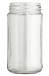 8oz. Clear Glass Paragon Jars, 12 pack