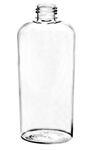 4 ounce clear plastic oval bottle