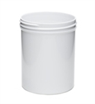 8oz. White Single Wall Jars 275 Case