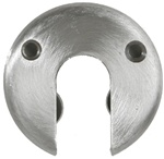 "1"" Formed, Round Exposed Break-away Wall Flange , Satin Stainless Finish - 3"" Dia."