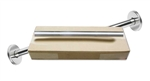 Wholesale Shower Rods - Box of 6 Shower Rods and Flanges -  Satin Finish