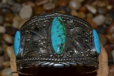 Vintage Navajo Cuff Bracelet Signed by Jerry T. Nelson
