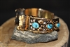 Vintage Navajo Cuff Bracelet Signed by Les Bakers Shop