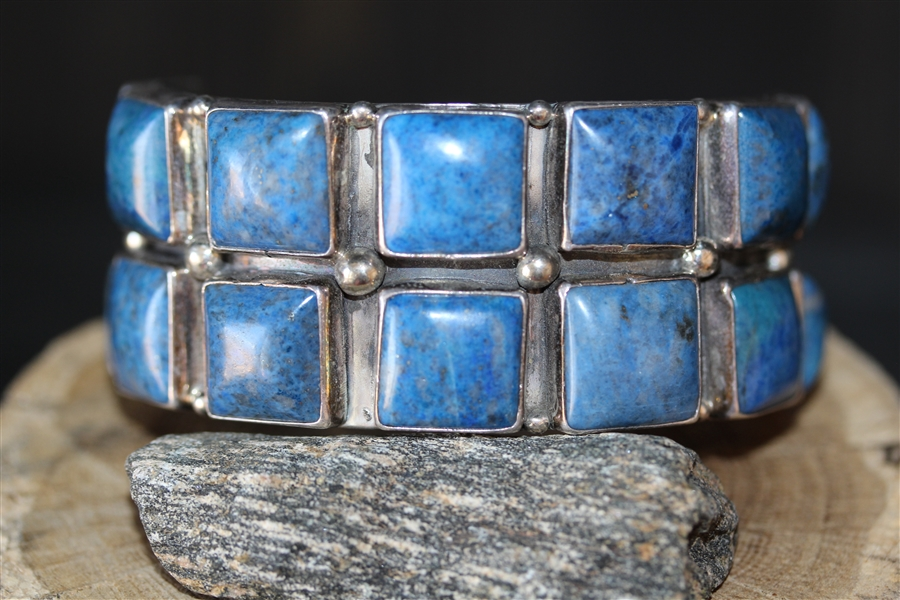 Vintage Navajo Cuff Bracelet Signed by Philbert Sacatero