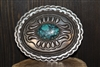 Vintage Navajo Belt Buckle Signed by Calvin Martinez