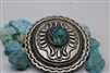 Navajo Belt Buckle, Sterling silver, Turquoise