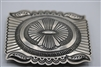Vintage Navajo belt buckle, Sterling Silver.
