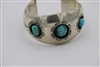 Old pawn Navajo cuff Bracelet with turquoise sterling silver
