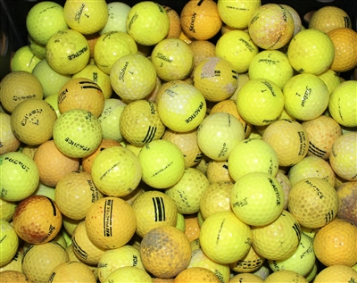 300 Assorted Yellow Range Golf Balls - Grade 3A/2A Mix