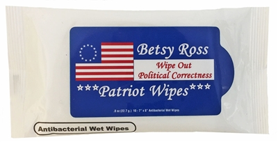 Betsy Ross Patriot Wipes 1776