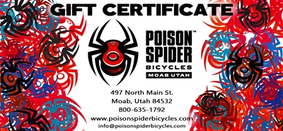 Poison Spider Gift Certificate - Online - Instore
