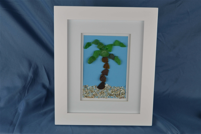Seaglass palm tree, tropical, island life, Florida palm, handmade ...
