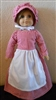Doll Prairie Dress, Apron & Bonnet Set Red Gingham