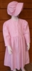 Girl Prairie Dress & Bonnet Set Pink Calico size 7