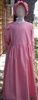 Girl Prairie Dress & Bonnet Set Medium Pink Calico size 10