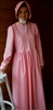 Girl Prairie Dress & Bonnet Set Medium Pink Calico size 14