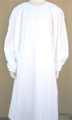 Girl Prairie Nightgown in White Muslin size XS 3 4