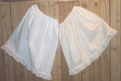 Girl Prairie Petticoat with Lace Custom Made White or Cream