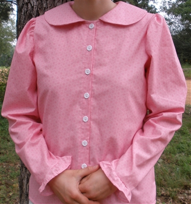 Ladies Anne Blouse Medium Pink Calico size 10 for average heights