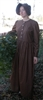 Ladies Prairie Dress & Bonnet Set Dark Brown Calico size 10