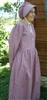 Ladies Prairie Dress & Bonnet Set Rose Calico size 12