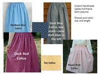 Ladies Prairie Skirt Custom Made all sizes-choose your fabric