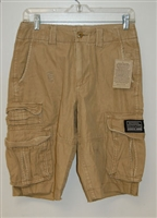 National Outfitters men's distressed cargo shorts.