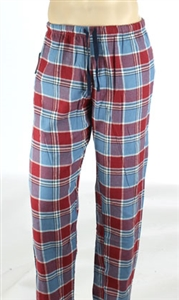 Northwest Blue® men's flannel plaid lounge pant.