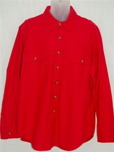 National Outfiters® men's solid heavyweight brawny shirt.